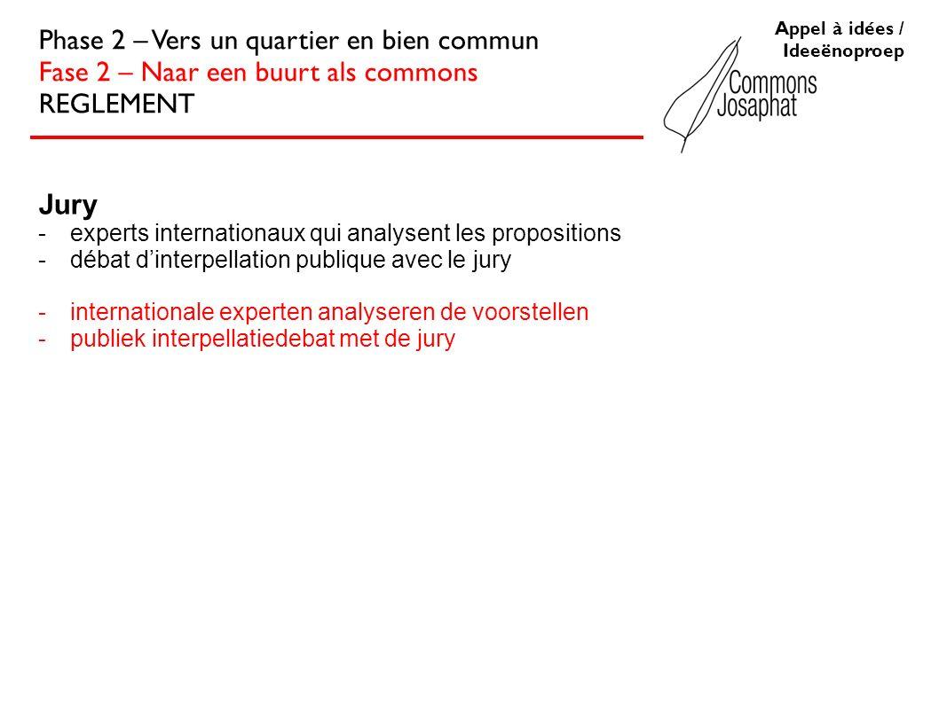 Jury -experts internationaux qui analysent les propositions -débat dinterpellation publique avec le jury -internationale experten analyseren de voorst