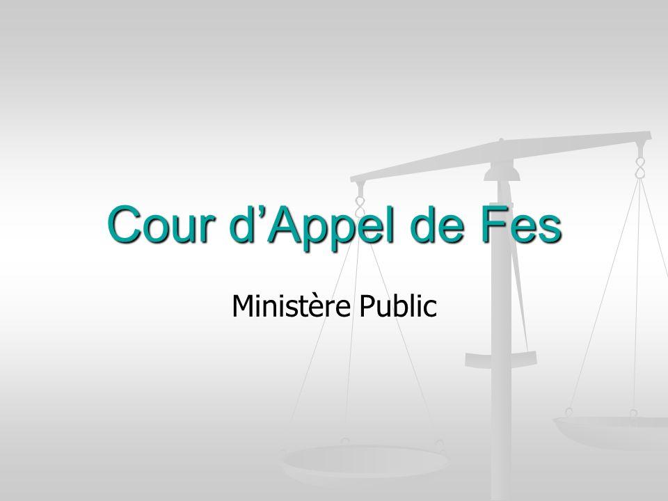 Cour dAppel de Fes Ministère Public