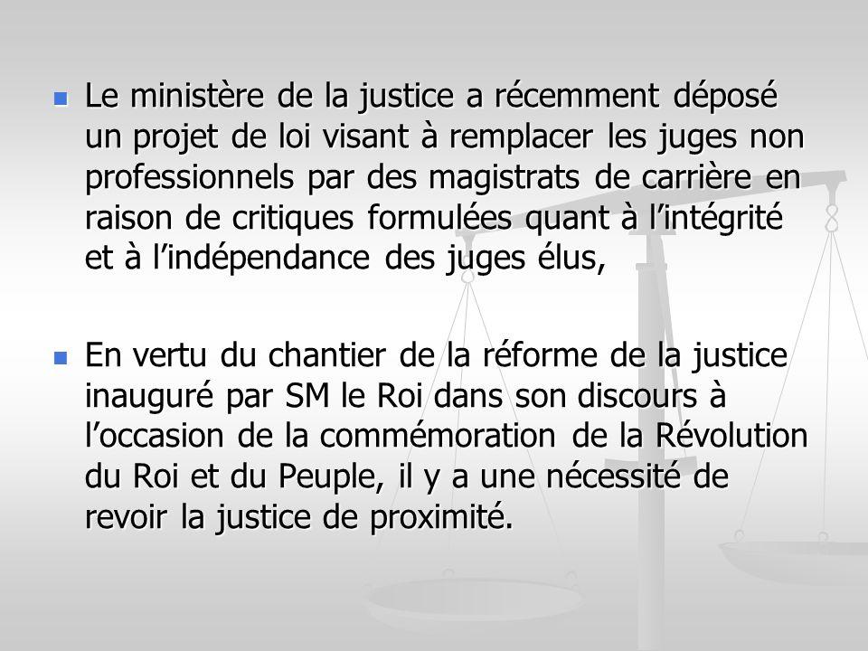 Le ministère de la justice a récemment déposé un projet de loi visant à remplacer les juges non professionnels par des magistrats de carrière en raiso