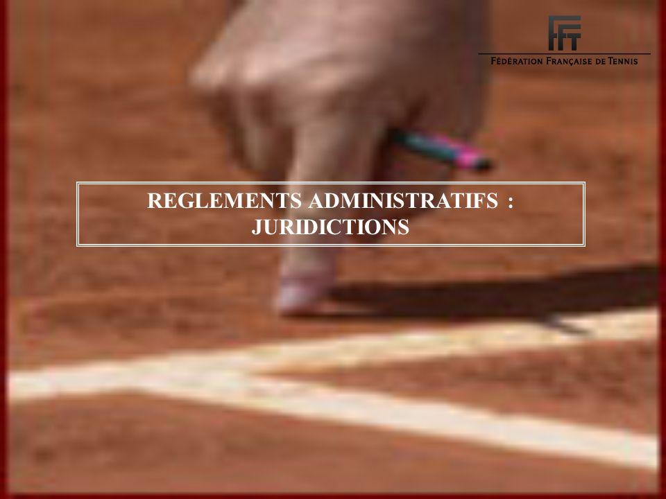 Matérialité des faits Joueurs Arbitre Règlement REGLEMENTS ADMINISTRATIFS : JURIDICTIONS