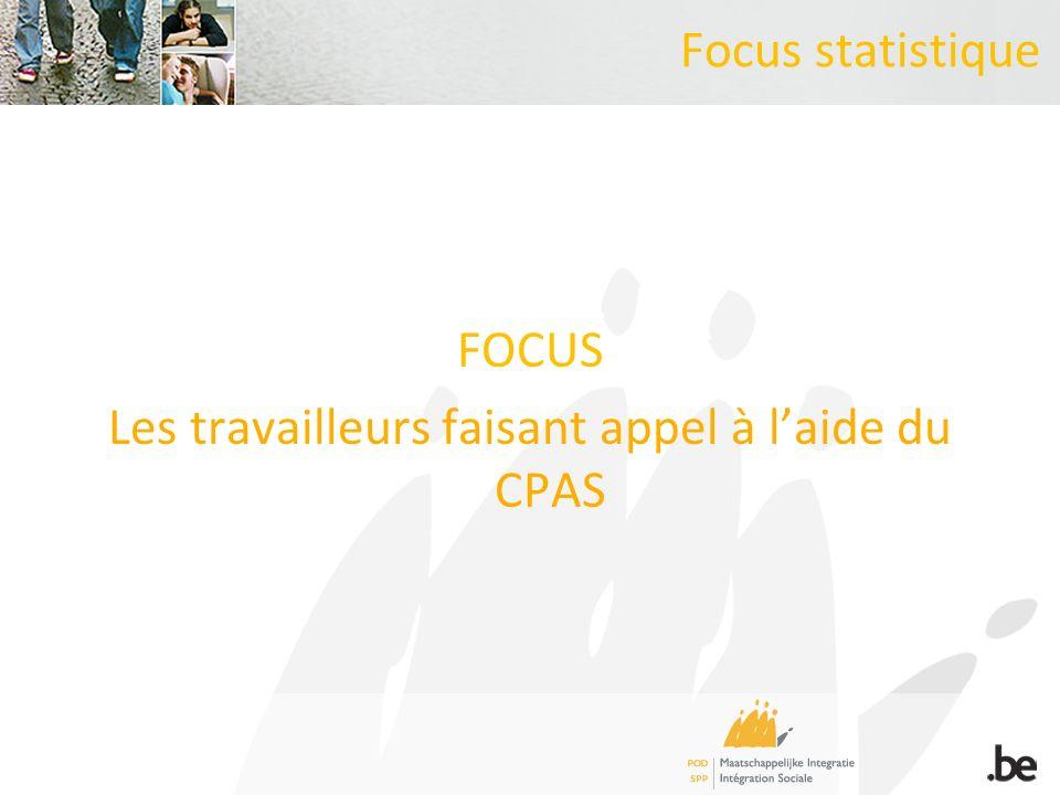 Focus statistique FOCUS Les travailleurs faisant appel à laide du CPAS