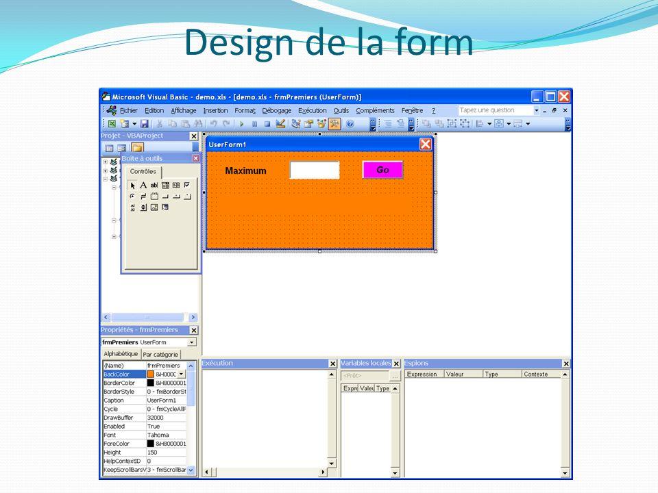 Design de la form