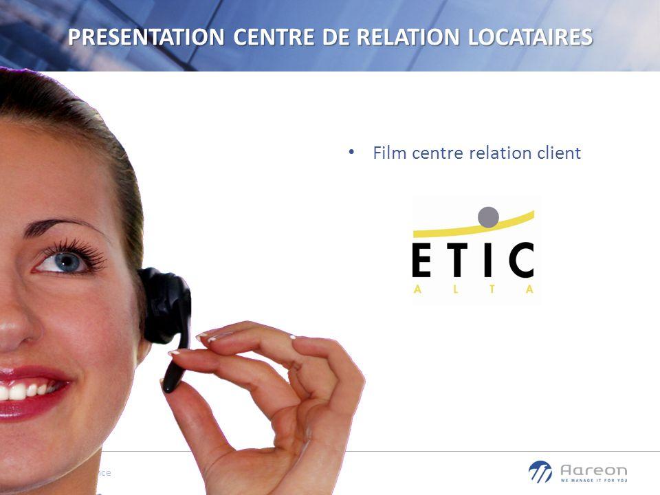 © Aareon France 2 PRESENTATION CENTRE DE RELATION LOCATAIRES Film centre relation client