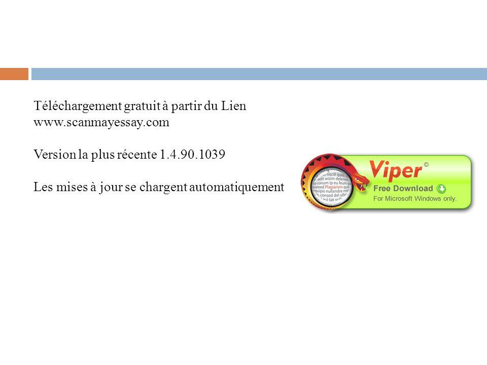 Téléchargement gratuit à partir du Lien www.scanmayessay.com Version la plus récente 1.4.90.1039 Les mises à jour se chargent automatiquement