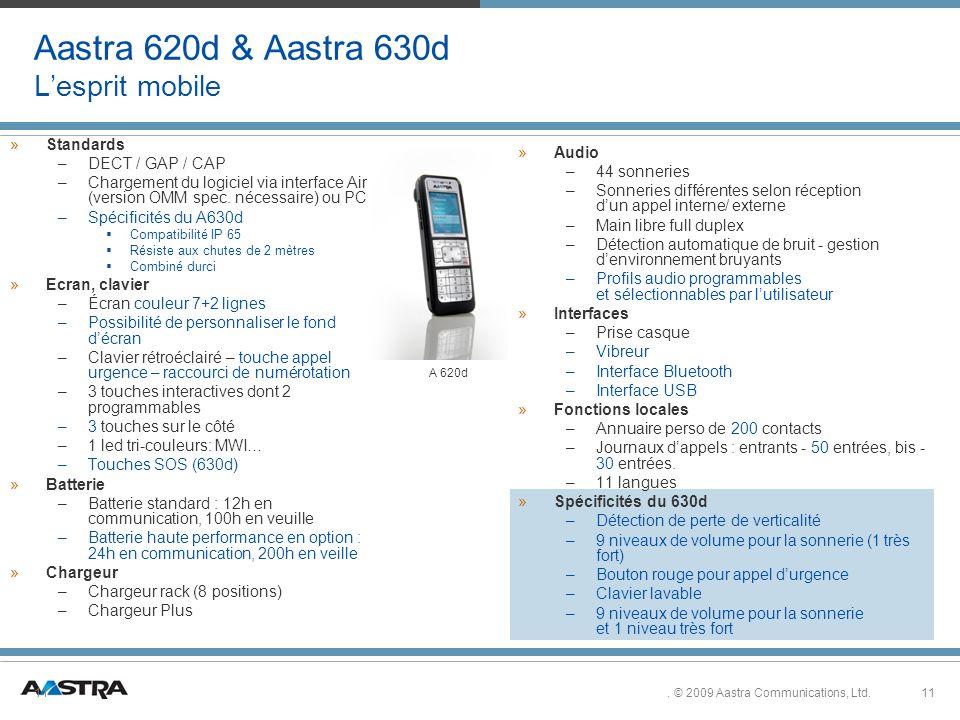 11.© 2009 Aastra Communications, Ltd.