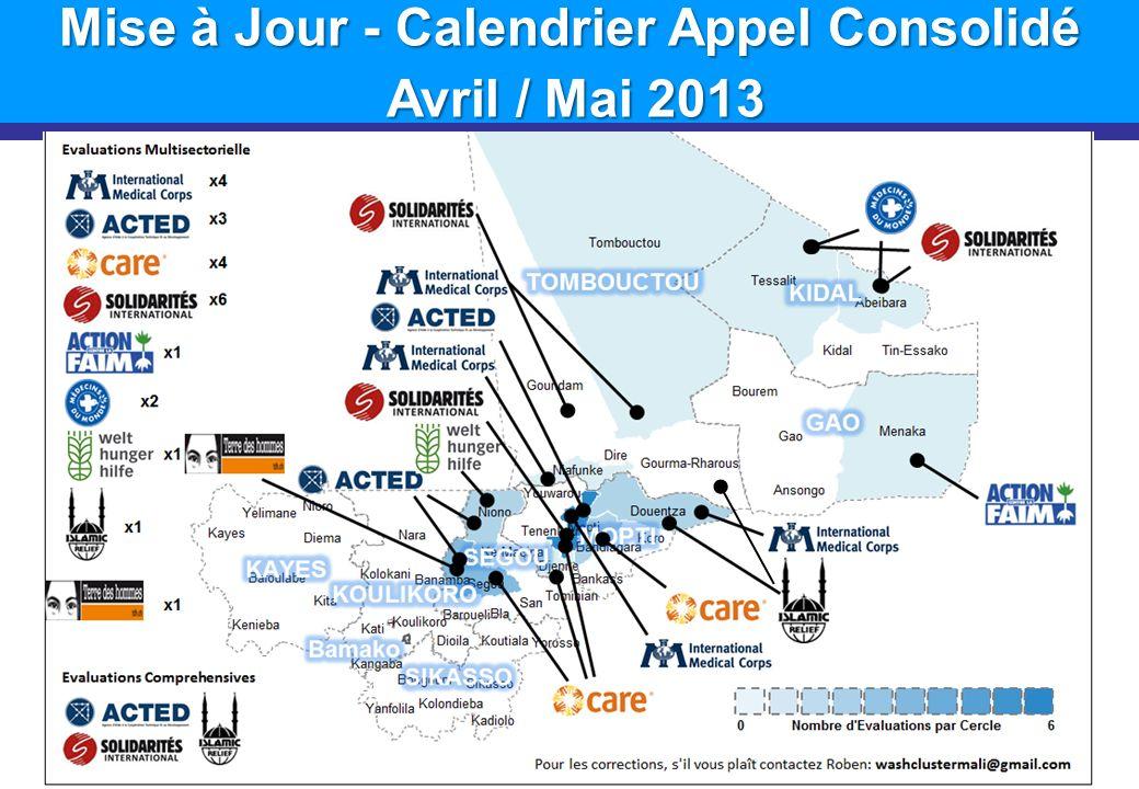 Mise à Jour - Calendrier Appel Consolidé Avril / Mai 2013 Avril / Mai 2013