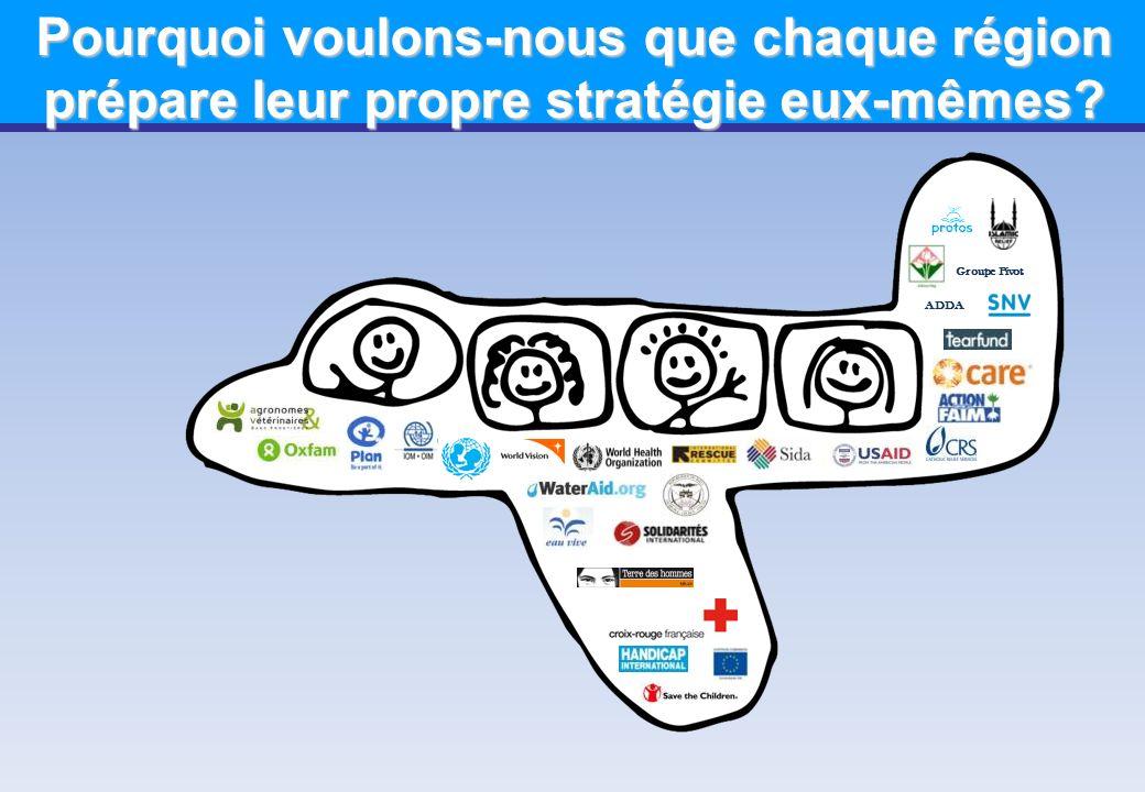 Groupe Pivot ADDA Pourquoi voulons-nous que chaque région prépare leur propre stratégie eux-mêmes