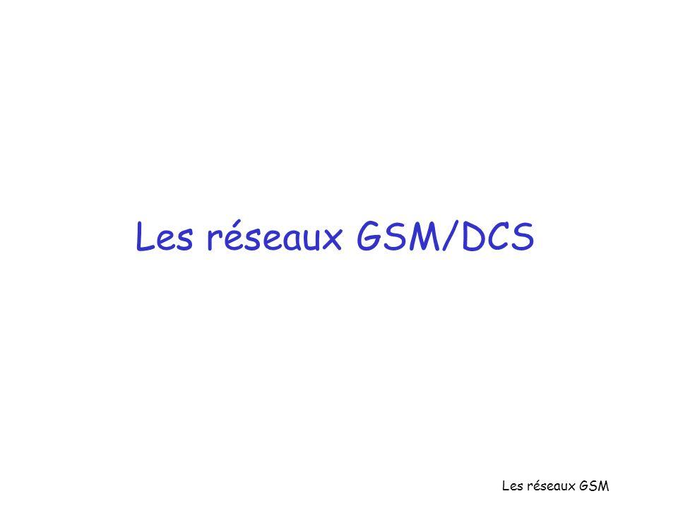Les réseaux GSM Les réseaux GSM/DCS