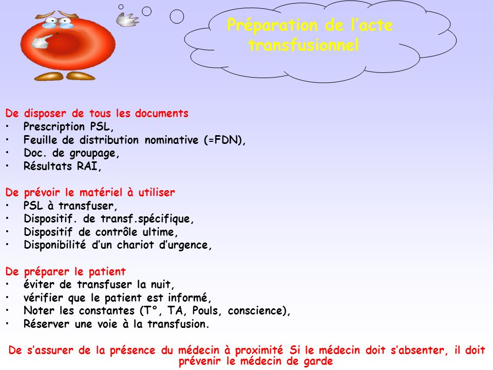 De disposer de tous les documents Prescription PSL, Feuille de distribution nominative (=FDN), Doc.