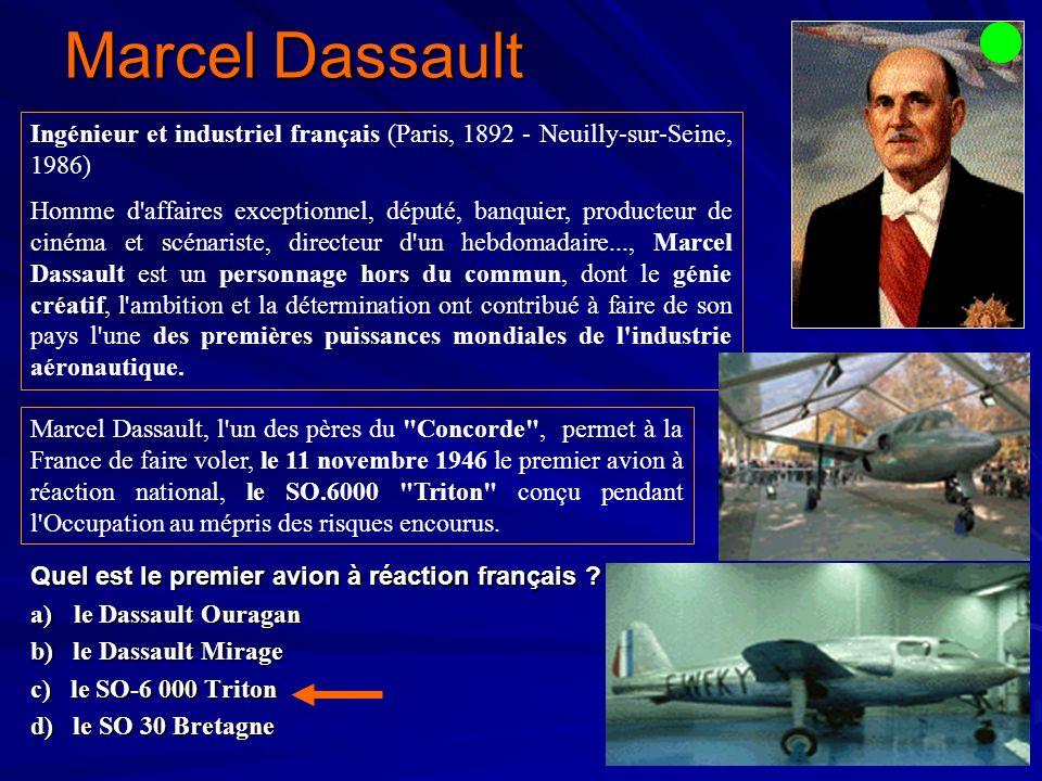 Marcel Dassault Quel est le premier avion à réaction français .