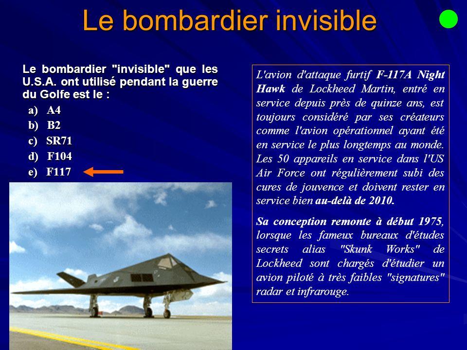 Le bombardier invisible Le bombardier invisible que les U.S.A.
