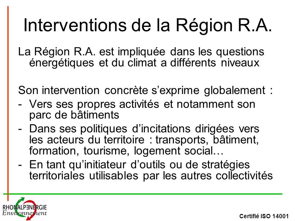 Certifié ISO 14001 Interventions de la Région R.A.