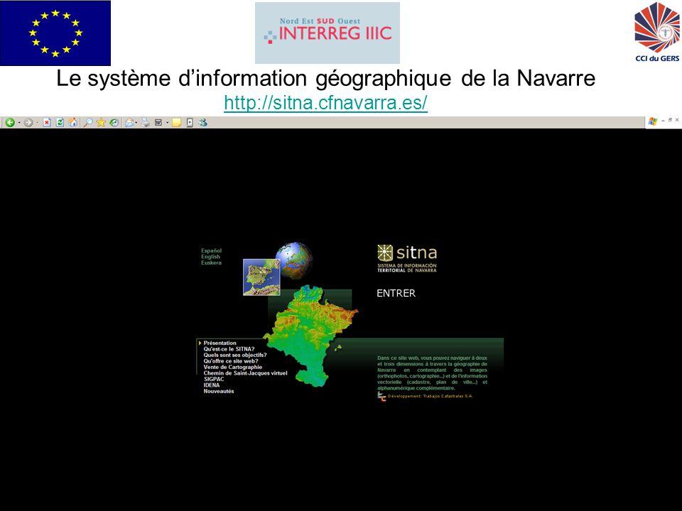 GRISI pour Interreg IIIC Sud20 Le système dinformation géographique de la Navarre http://sitna.cfnavarra.es/ http://sitna.cfnavarra.es/
