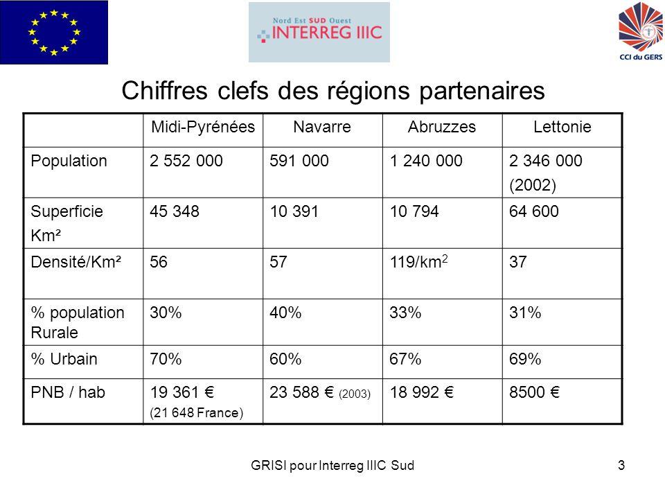 GRISI pour Interreg IIIC Sud14 Budget 1,040 M réservé à des appels à projet 250K dinvestissement dans des plates-formes géomatique Un effort global en ressources humaines de 250 Personnes/mois Un planning sur 3 ans Des dépenses équilibrées sur 6 semestres
