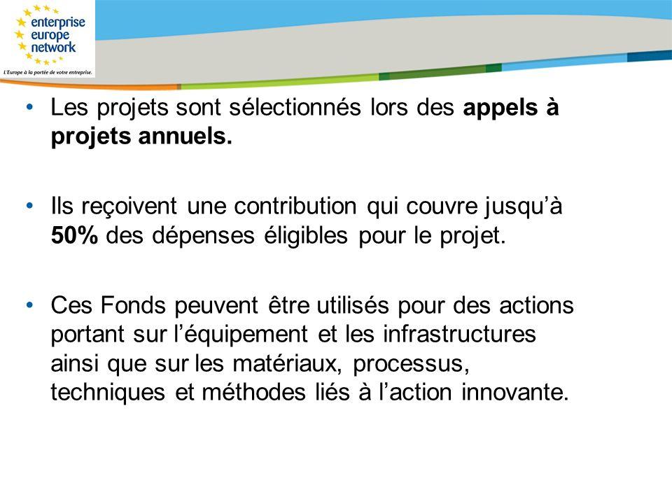 Title of the presentation | Date |# Les projets sont sélectionnés lors des appels à projets annuels. Ils reçoivent une contribution qui couvre jusquà