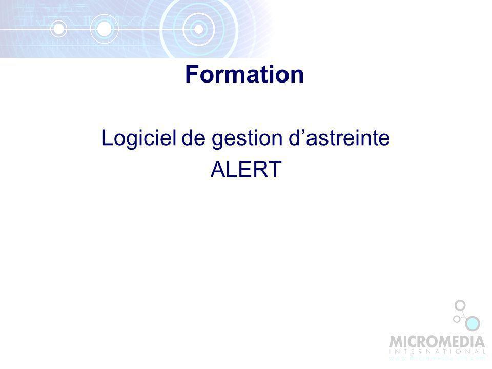 Logiciel de gestion dastreinte ALERT Formation