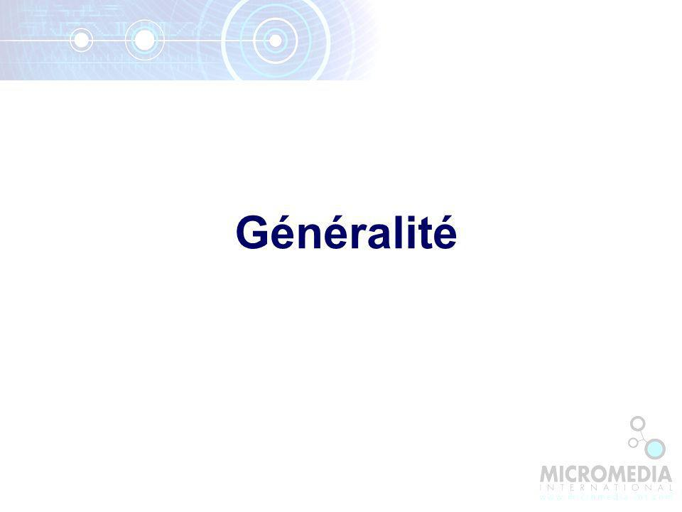 Généralité