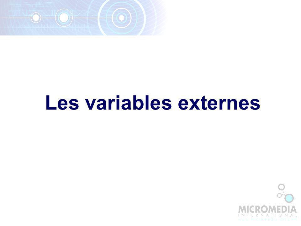 Les variables externes