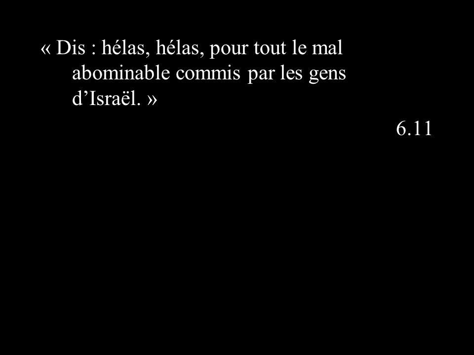 « Dis : hélas, hélas, pour tout le mal abominable commis par les gens dIsraël. » 6.11
