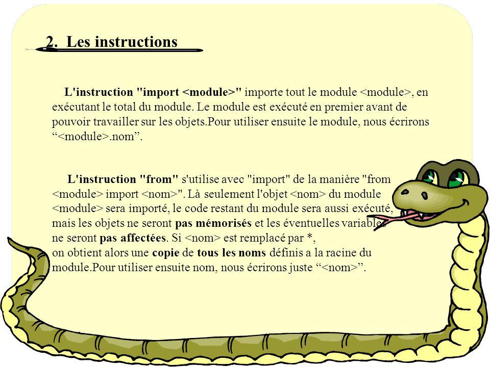 1.Définition Un module est un fichier contenant des définitions et des instructions Python.