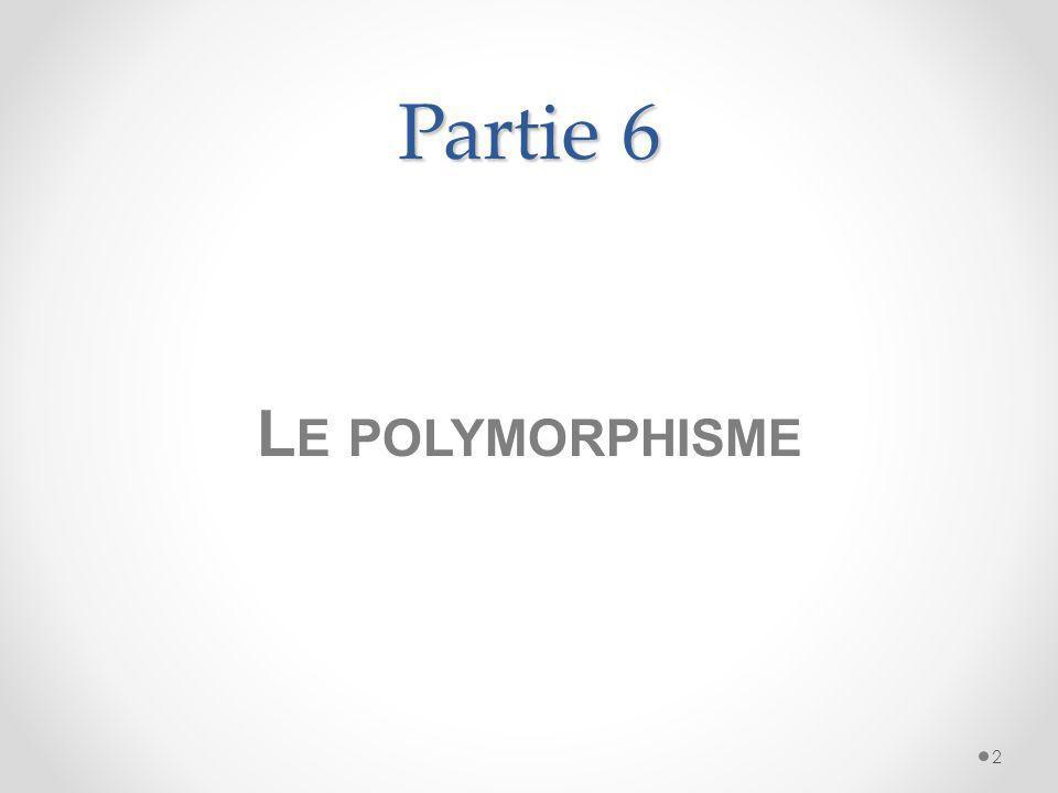 Partie 6 2 L E POLYMORPHISME