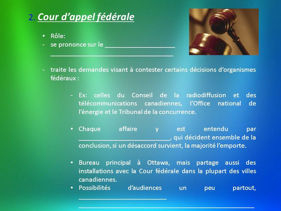 3.Cour dappel des provinces (du Québec) Le _____________________________.