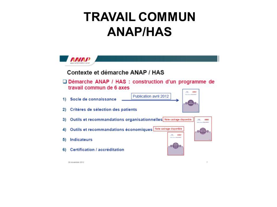 TRAVAIL COMMUN ANAP/HAS