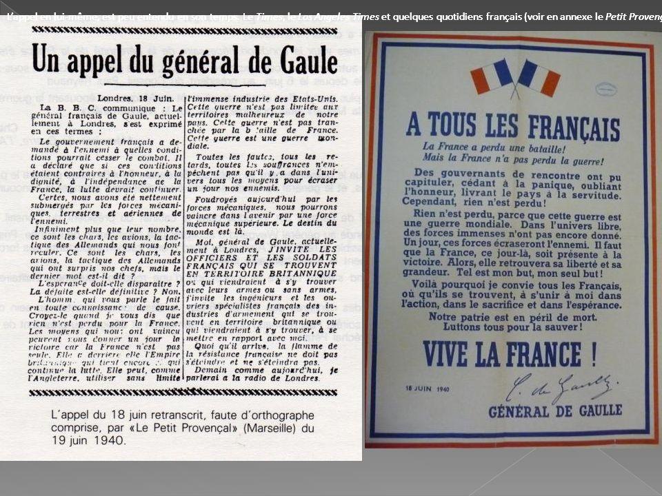 Lappel en lui-même, est peu entendu en son temps. Le Times, le Los Angeles Times et quelques quotidiens français (voir en annexe le Petit Provençal) e