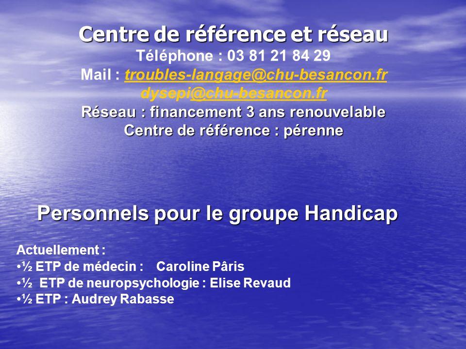 Centre de référence et réseau Téléphone : 03 81 21 84 29 Mail : troubles-langage@chu-besancon.frtroubles-langage@chu-besancon.fr dysepi@chu-besancon.f