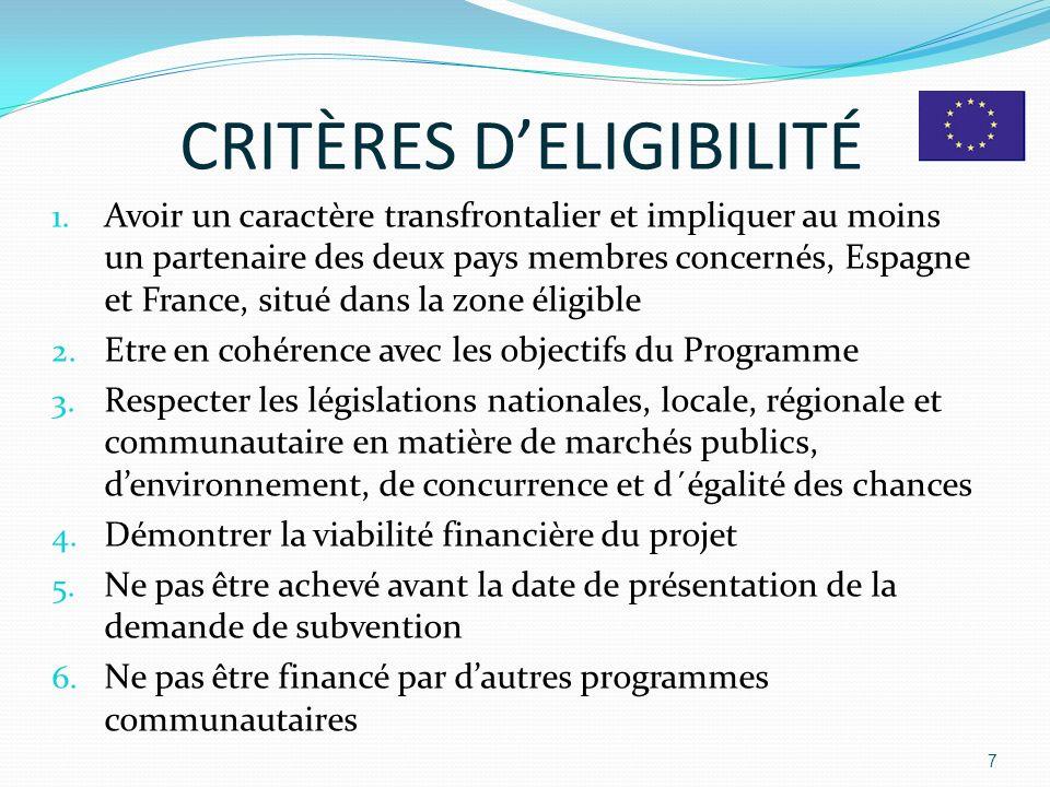 CRITÈRES DE SÉLECTION 1.Contenu et organisation du projet 2.