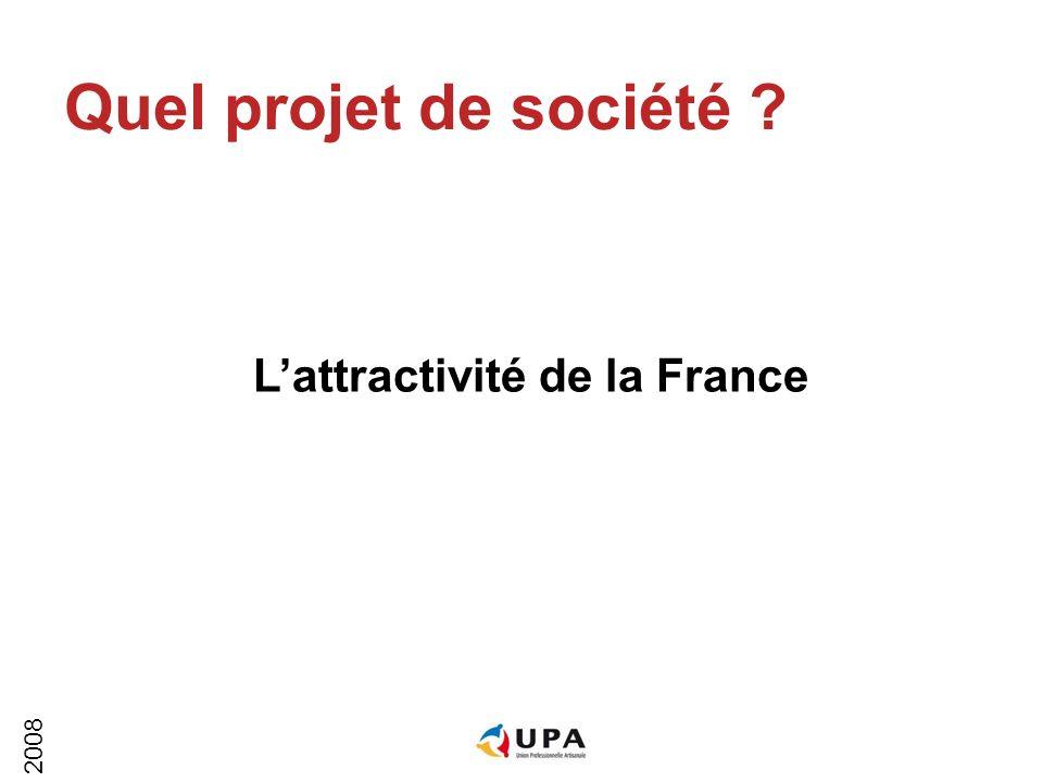 2008 Quel projet de société Lattractivité de la France