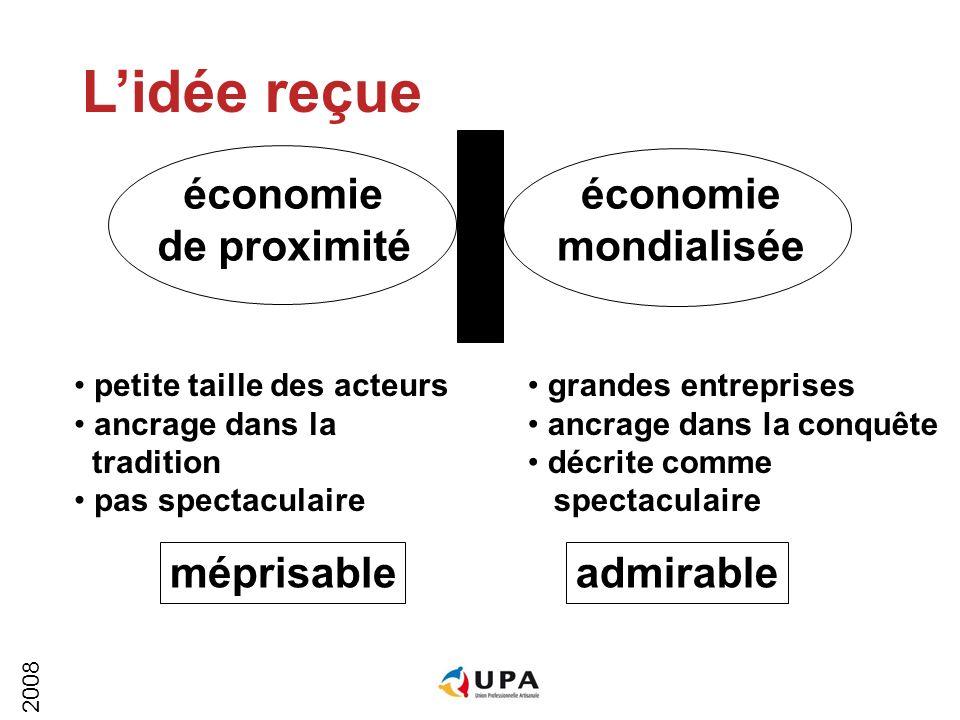 2008 économie de proximité économie mondialisée La réalité Lindispensable complémentarité