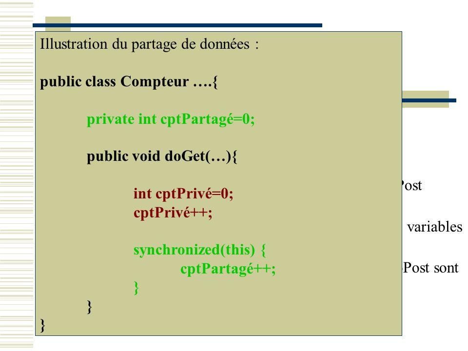 L OBJET REQUEST – getParameter(np) request.getParameter(nom_parametre); Récupère la valeur du paramètre dont le nom est passé en argument.