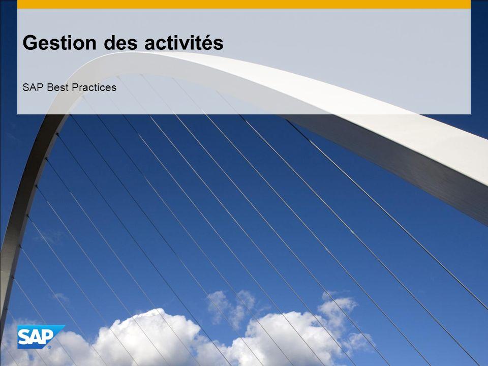 Gestion des activités SAP Best Practices