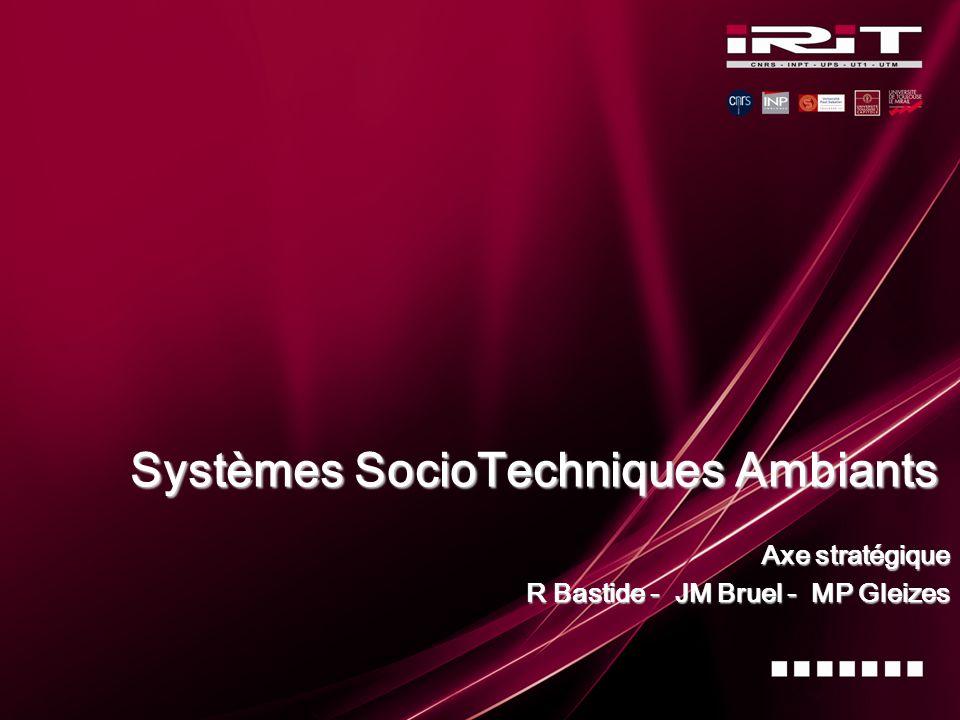 Systèmes SocioTechniques Ambiants Axe stratégique R Bastide - JM Bruel - MP Gleizes