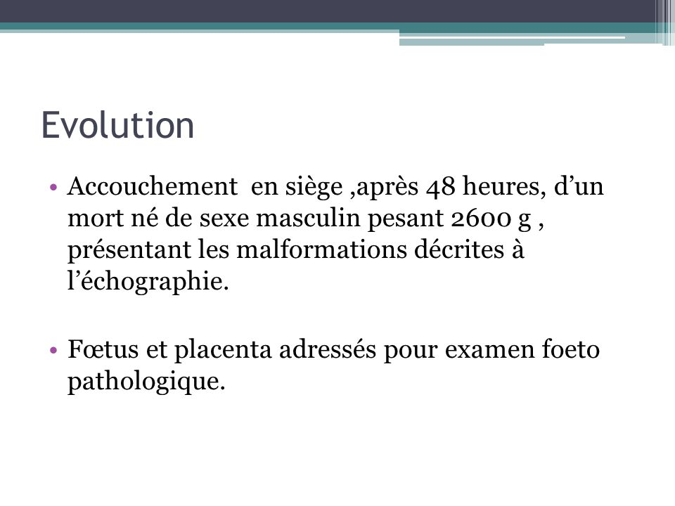 CONCLUSION Limportance de léchographie morphologique dans le diagnostic anténatal.