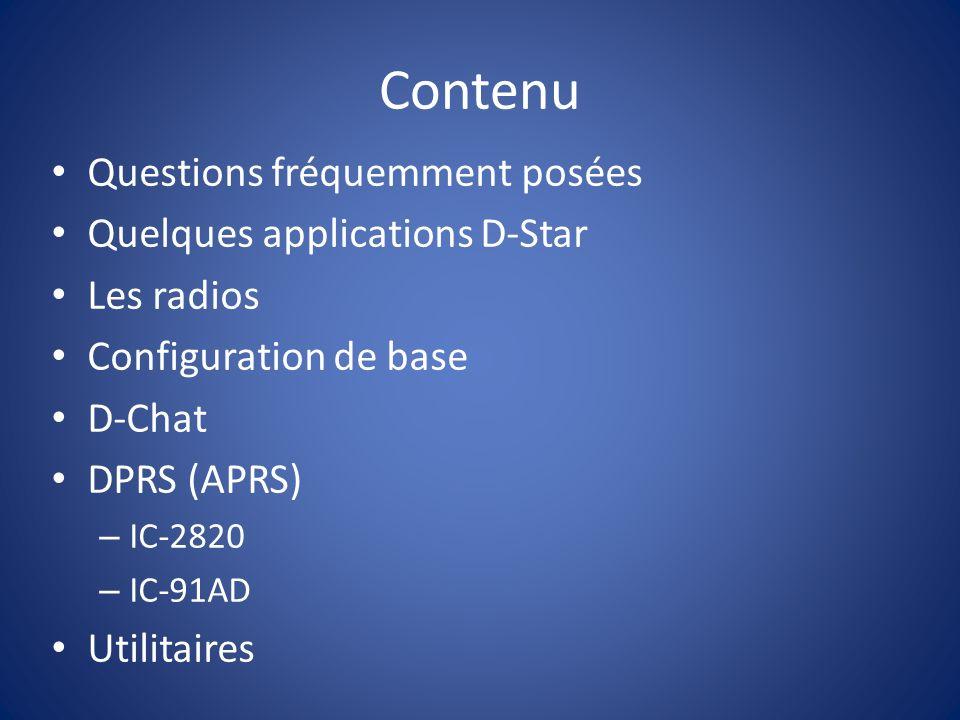 Un bon utilitaire http://www.d-starcom.com/ Permet dutiliser un fichier texte afin de programmer les mémoires des radios.
