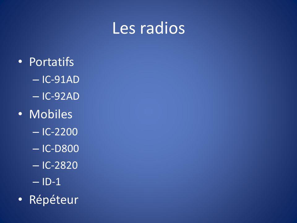 IC-91AD Dual band 5 watts FM / DV Module D-Star inclus Transmission voix et data 1300 mémoires Prix: 479.00 $