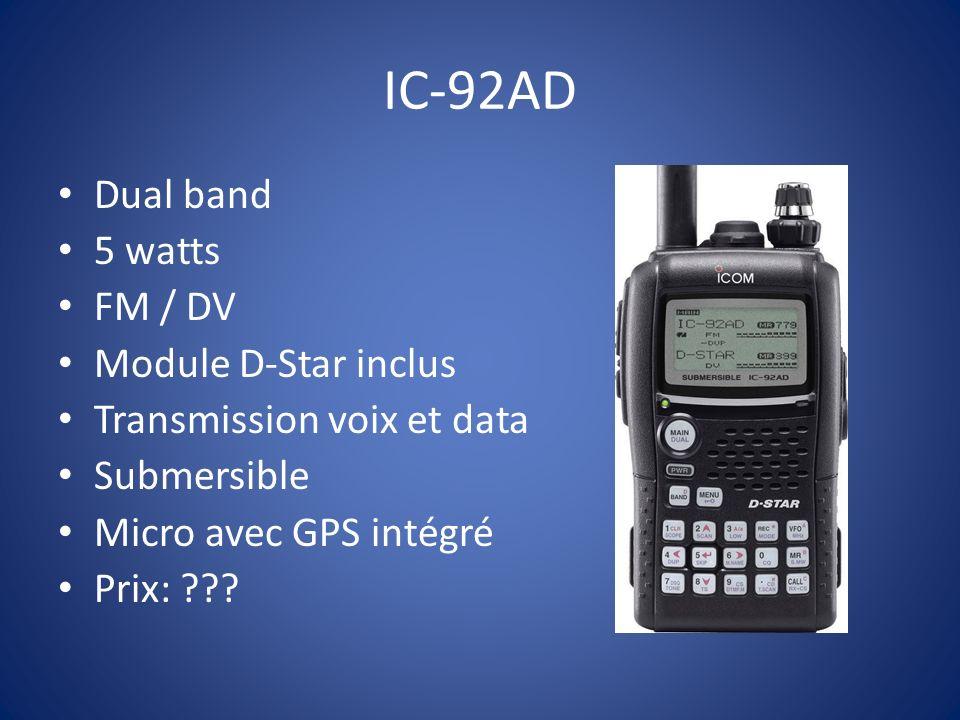 IC-2200 Idéal pour commencer VHF FM / DV Module UT-118 65 watts 200 mémoires Prix: 179.00 $ + modules numérique