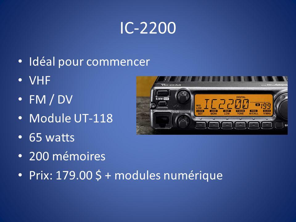 IC-D800 VHF / UHF FM / DV 55 watts Module numérique inclus 500 mémoires Transmission voix et data