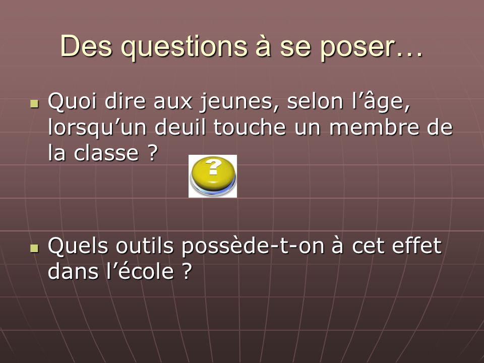 Des questions à se poser… Doit-on nécessairement faire appel à une personne ressource de lextérieur pour intervenir dans le groupe .