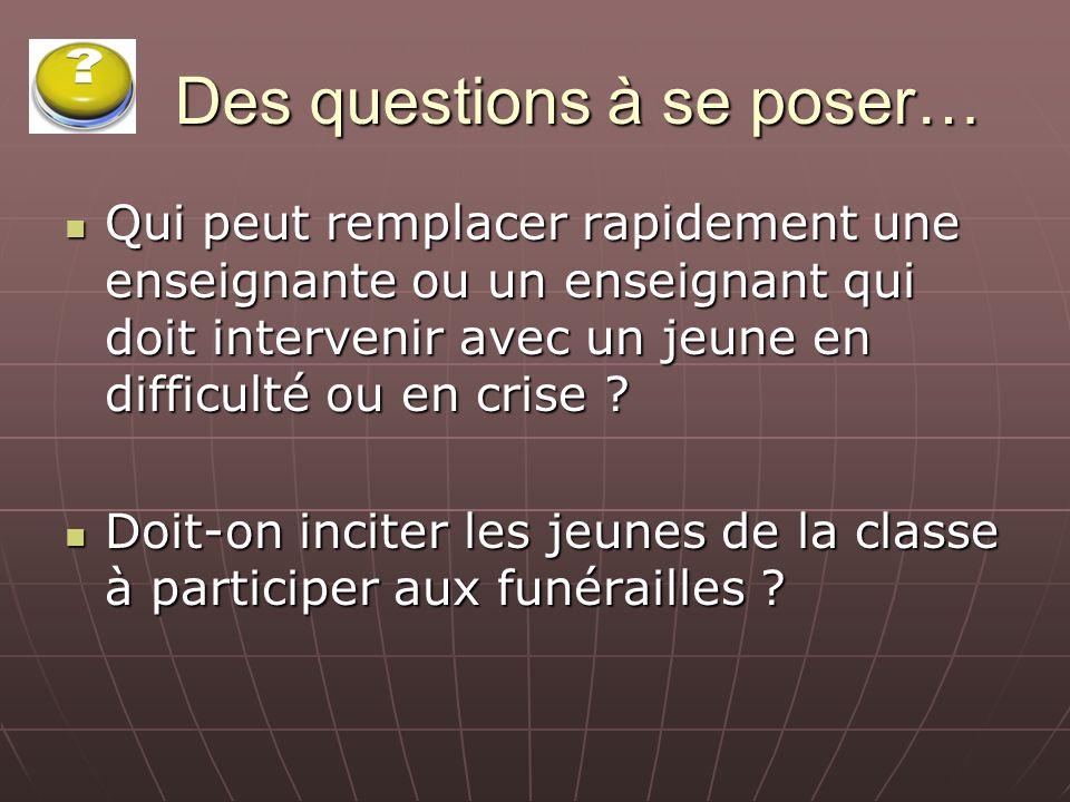 Des questions à se poser… À lécole, peut-on faire un rituel à caractère spirituel, sans quil soit nécessairement confessionnel .