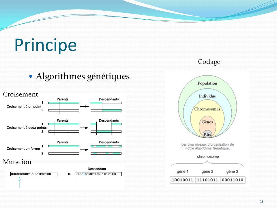 11 Principe Algorithmes génétiques Croisement Mutation Codage