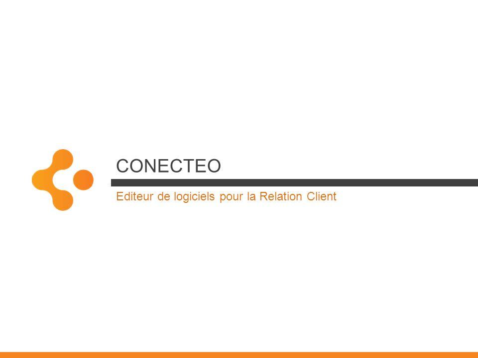 Notre métier É DITEUR DE LOGICIEL Conecteo conçoit des solutions innovantes de Gestion des Interactions Clients en sappuyant sur une profonde maîtrise des technologies et sur une démarche qualité éprouvée S ERVICES & ACCOMPAGNEMENT Léquipe Conecteo Services sappuie sur une culture ancrée du service client pour accompagner nos clients et partenaires dans la mise en œuvre de leur dispositif Kiamo E XPERT R ELATION -C LIENT Par sa compréhension fine des attentes des entreprises, Conecteo conçoit des solutions qui « parlent Métier » et rendent les utilisateurs autonomes