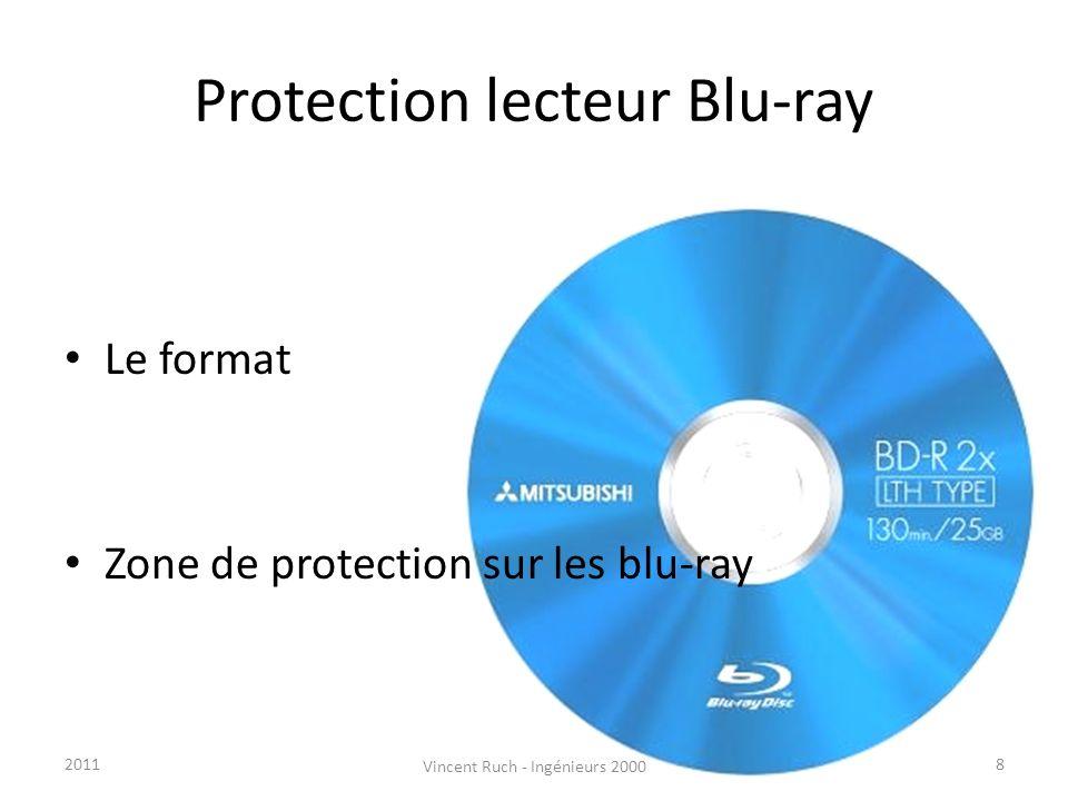 Protection lecteur Blu-ray Le format Zone de protection sur les blu-ray 82011 Vincent Ruch - Ingénieurs 2000