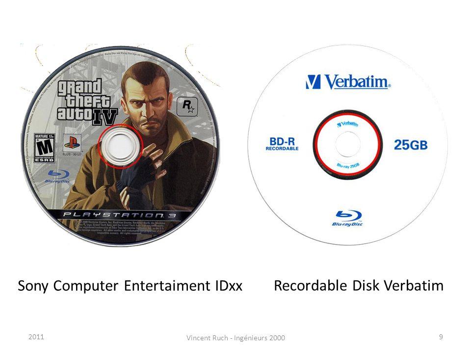 Sony Computer Entertaiment IDxx Recordable Disk Verbatim 92011 Vincent Ruch - Ingénieurs 2000