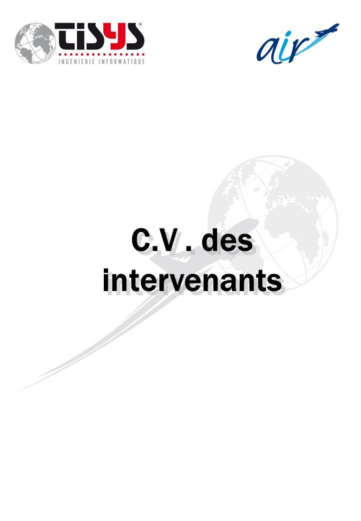 C.V. des intervenants