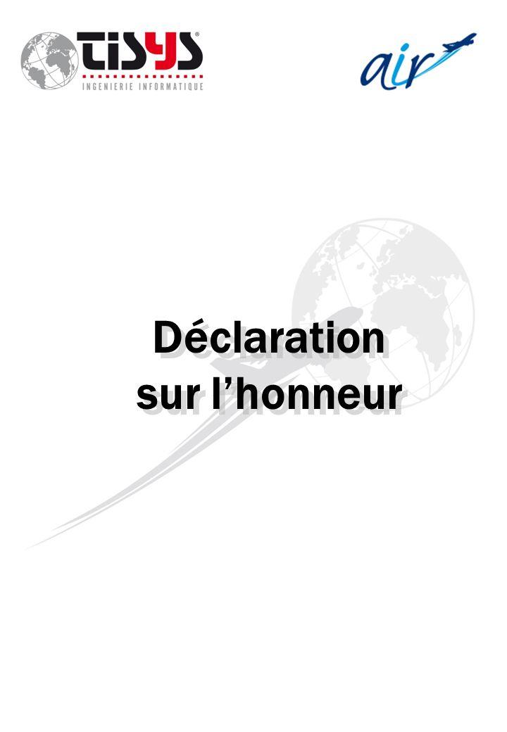 Déclaration sur lhonneur