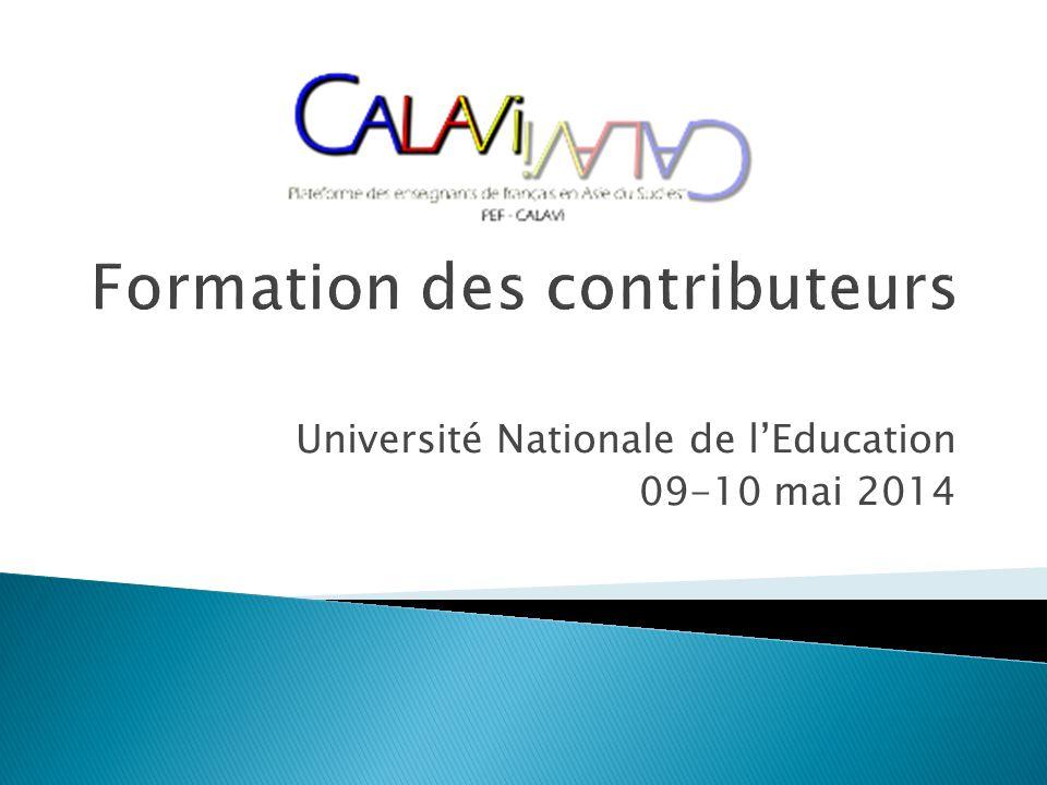 Université Nationale de lEducation 09-10 mai 2014