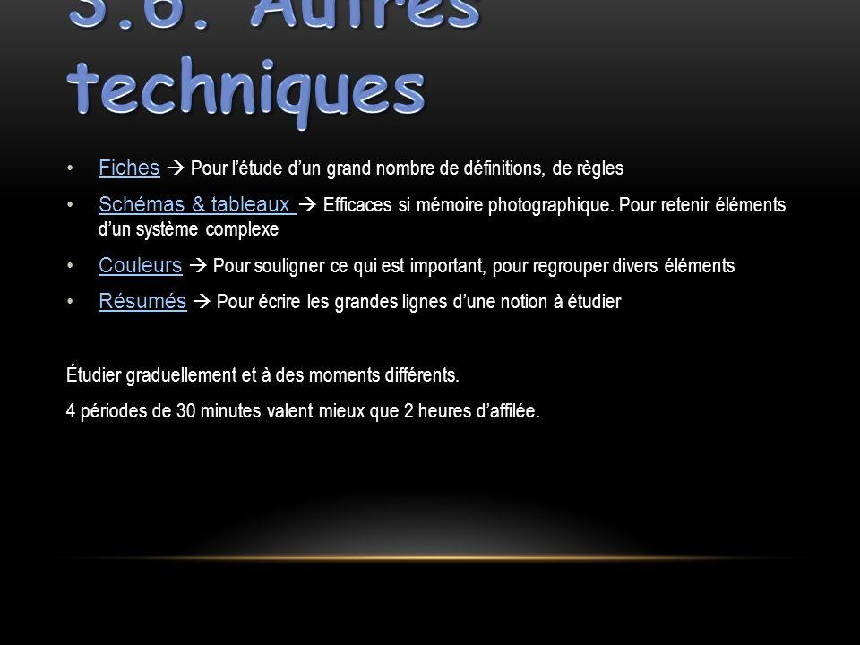 Fiches Pour létude dun grand nombre de définitions, de règles Schémas & tableaux Efficaces si mémoire photographique. Pour retenir éléments dun systèm